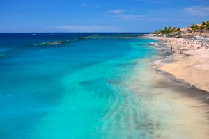 Jellegzetes tűrkíz színű déli tenger
